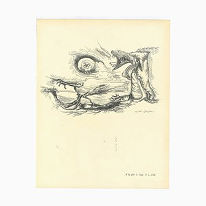 André Masson, Surrealist Composition 7, Collotype, Mid-20th Century