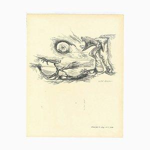 André Masson, Surrealistische Komposition 7, Collotypie, Mitte 20. Jahrhundert