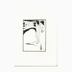 Aubrey Vincent Beardsley, Regarded The Moon, The Moon Air Strange, Lithograph, 1970