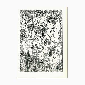 Aubrey Vincent Beardsley, L'orgie, Lithograph, 1970