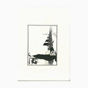Aubrey Vincent Beardsley, I Will Base Your Mouth, Jokanan, Lithograph, 1970