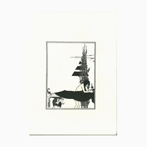 Aubrey Vincent Beardsley, Ich stütze Ihren Mund, Jokanan, Lithographie, 1970