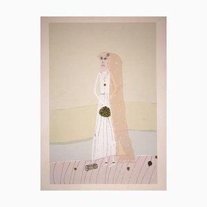 Gabriel Stupika, The Bride, Lithograph, 1983