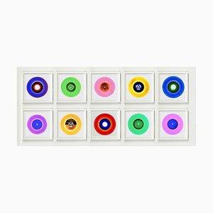 Vinyl Collection Ten Piece B Side Installation - Pop Art Color Photograph, 2017