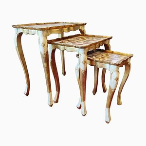 Florentine Nesting Tables by Fratelli Paoletti, 1920s