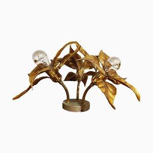 Blumentisch oder Deckenlampe aus Messing von Willy Daro, 1970er