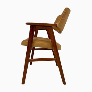 Danish Teak and Leather Desk Chair by Erik Kirkegaard, 1960s