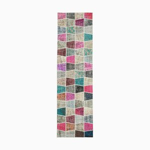 Vintage Multicolor Patchwork Runner Rug