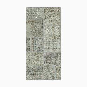 Vintage Grey Patchwork Runner Rug