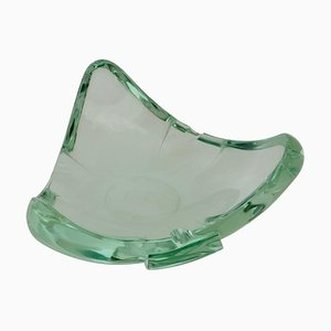 Beveled Glass Ashtray or Vide Poche by Fontana Arte, Italy, 1960s
