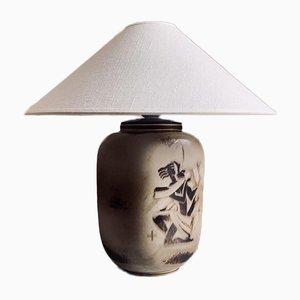 Lampada da tavolo in gres flambé di Gunnar Nylund