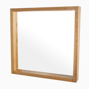 Vintage Large Square Pine Mirror