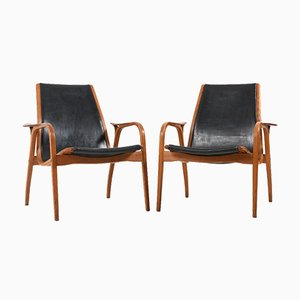 Laminett Armchairs by Yngve Ekström for Swedese, 1950s, Set of 2