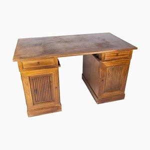 Großer Schreibtisch aus hellem Mahagoni, 1920er