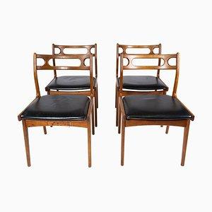 Chaises de Salon en Teck, Danemark, 1960s, Set de 4