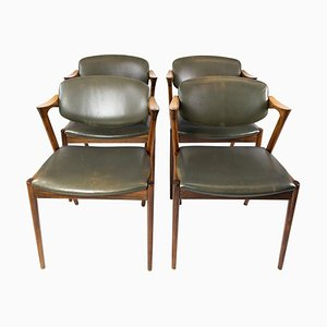 Model 42 Dining Chairs by Kai Kristiansen, 1960s, Set of 4