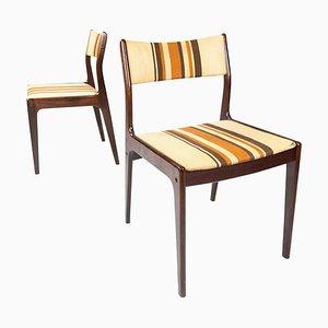 Danish Dark Wood Chairs, 1960s, Set of 2
