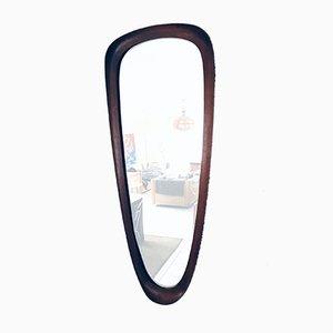 Specchio da parete in teak, Scandinavia, anni '60