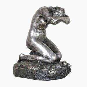 Eve Laethier, Silberne Bronze Signiert, 1929