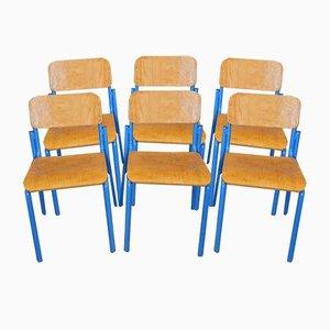 Italienische Schreibtischstühle von Vastarredo, 1980er, 6er Set