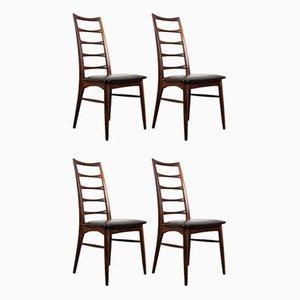 Danish Brazilian Rosewood Liz Chairs by Niels Koefoed for Koefoeds Møbelfabrik, 1960s, Set of 4