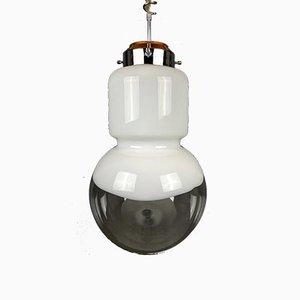Grande Lampe à Suspension Mid-Century en Verre Murano par Carlo Nason pour Mazzega, 1960s