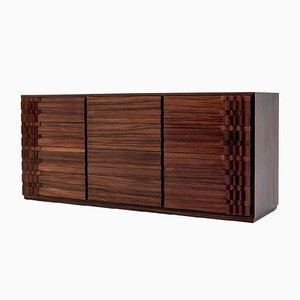 Italian Rosewood Diamante Sideboard by Luciano Frigerio, 1970s