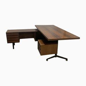 Mid-Century Rosewood T95 Desk by Osvaldo Borsani for Tecno