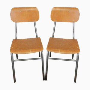 Italienische Schreibtischstühle, 1950er, 2er Set