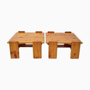 Swedish Pine Coffee Tables, 1976, Set of 2