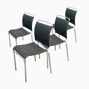 Vintage Italian Model Air Cb/93/Connubia Dining Chairs by Arkline & S.T.C for Calligaris, 1980s, Set of 4