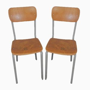 Italian Desk Chairs, 1970s, Set of 2
