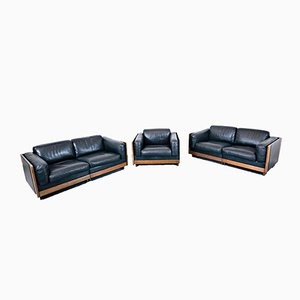 Model 920 Sofas & Armchair by Afra & Tobia Scarpa for Cassina, 1960s, Set of 3