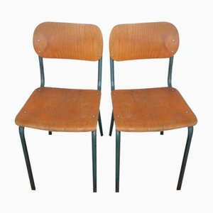 Italienische Schreibtischstühle, 1970er, 2er Set