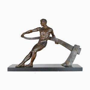 M-Guiraud Fluss / Etling, Helmsman Bronze, signiert
