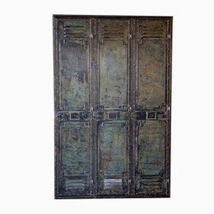 Metal 3-Door Locker Cabinet from Gantois, 1930s