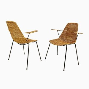 Basket Chairs by Gian Franco Legler, 1960s, Set of 2
