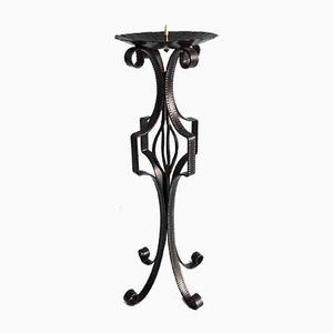 Large Wrought Iron Candleholder, 1970s
