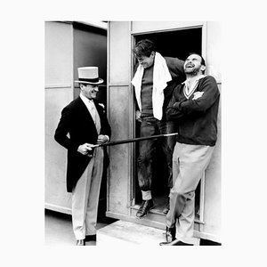 Fun On Set Archival Pigment Print Framed in White by Everett Collection