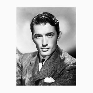 Dashing Gregory Peck Archival Pigment Print Framed in Black by Everett Collection
