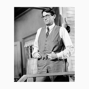 Imprimé Pigmentaire Gregory Peck Encadré Blanc par Everett Collection