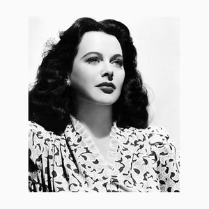 Stampa serigrafica Hedy Lamarr bianca di Everett Collection
