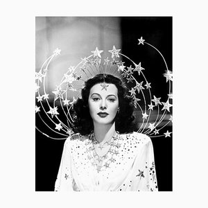 Imprimé Pigmentaire Dazzling Hedy Archivré Blanc par Everett Collection