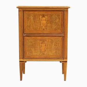 Italian Louis XVI Style Inlaid Wood Sideboard, 1960s