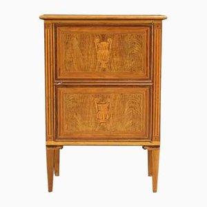 Italienisches Sideboard aus Holz im Louis XVI Stil mit Intarsien, 1960er