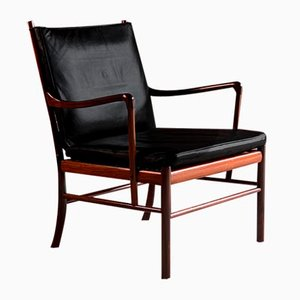 Danish Rosewood Model 149 Colonial Lounge Chair by Ole Wanscher for Poul Jeppesens Møbelfabrik, 1950s