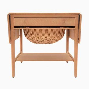 Solid Oak AT-33 Side Table by Hans J. Wegner for Andreas Tuck, 1960s