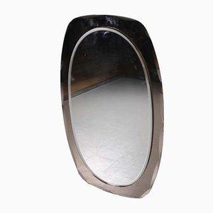 Großer italienischer Spiegel mit Facettenschliff, 1960er