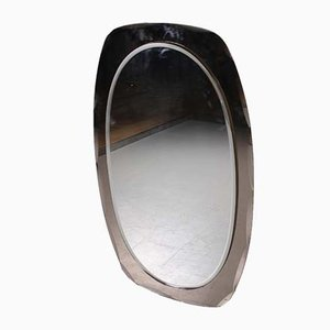 Large Italian Facet Cut Mirror, 1960s