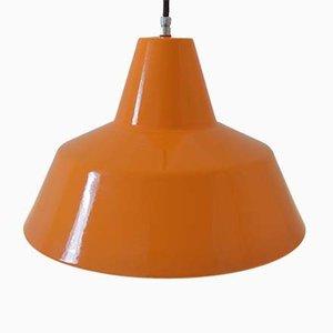 Emaillierte Deckenlampe von Louis Poulsen, 1960er